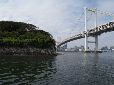 Stone wall and Odaiba Cruise of Edo-jo Castle Sotobori