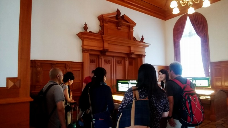 [during stop] Visit to Diet building & Ministry of Justice tour