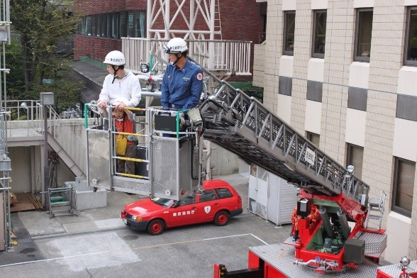 Kojimachi fire department opening firefighting