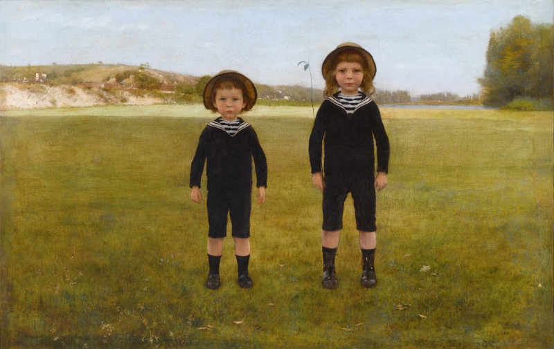Child exhibition whom painter looked at