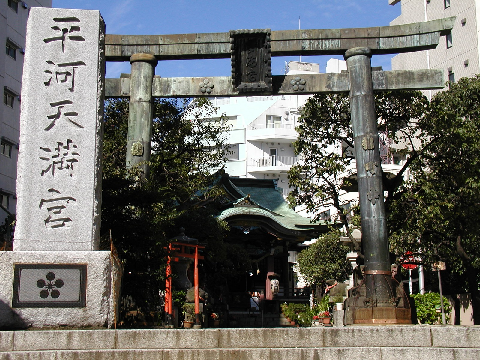 Flat river Tenman-gu Shrine