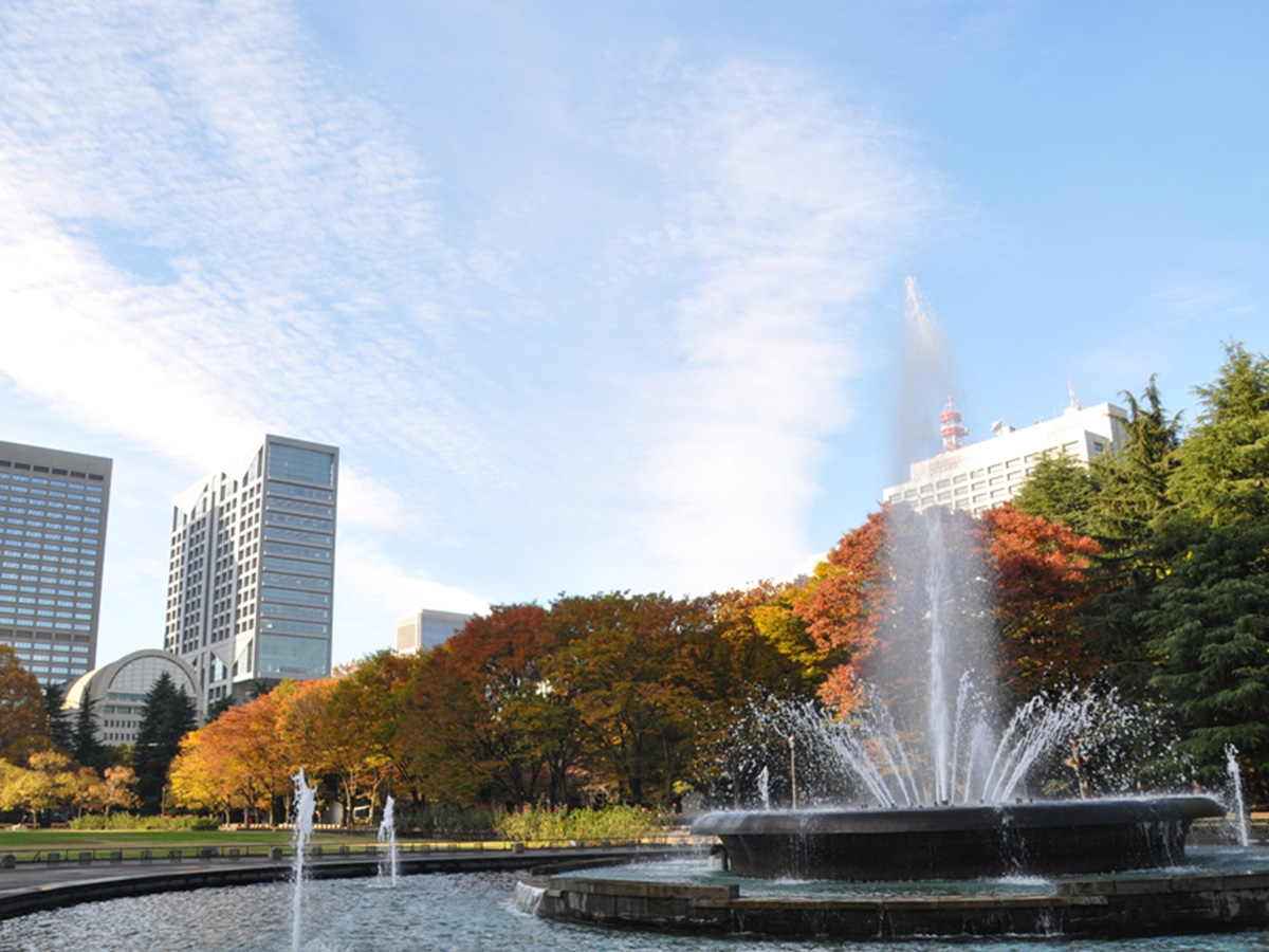 Hibiya Park, colored leaves